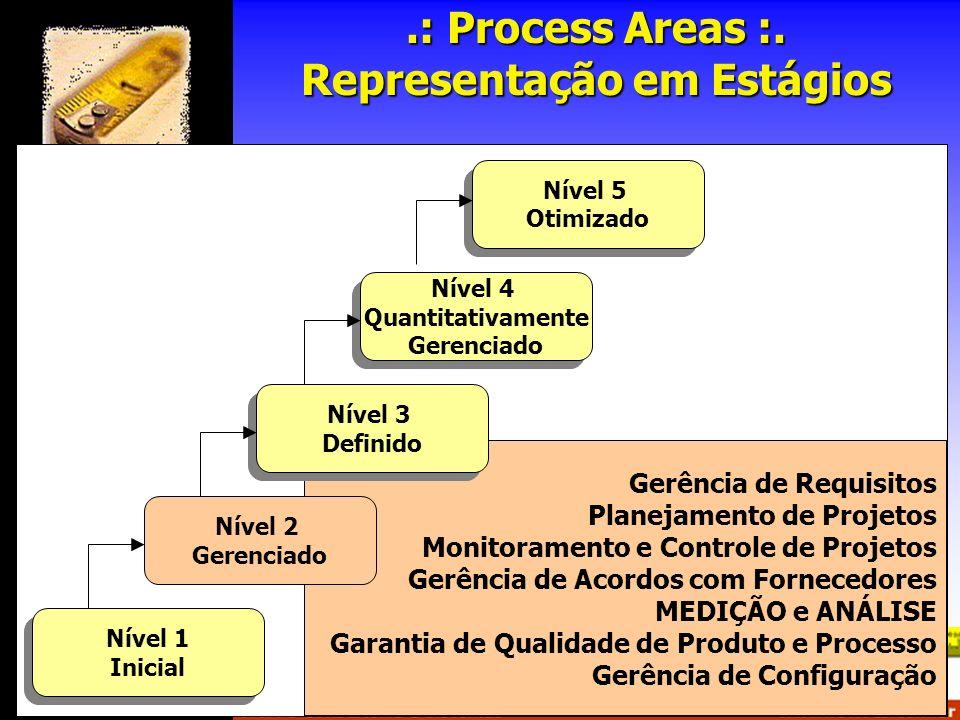 Gerência de Requisitos Planejamento de Projetos Monitoramento e Controle de Projetos Gerência de Acordos com Fornecedores MEDIÇÃO e ANÁLISE Garantia d