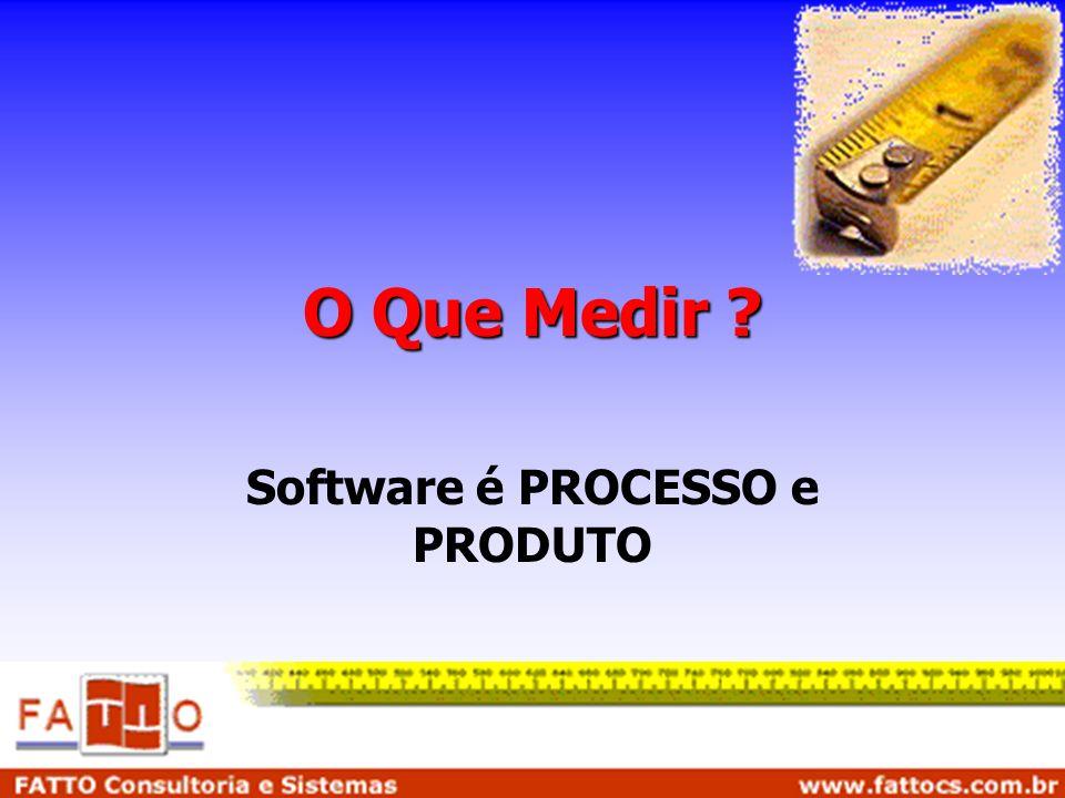 O Que Medir ? Software é PROCESSO e PRODUTO