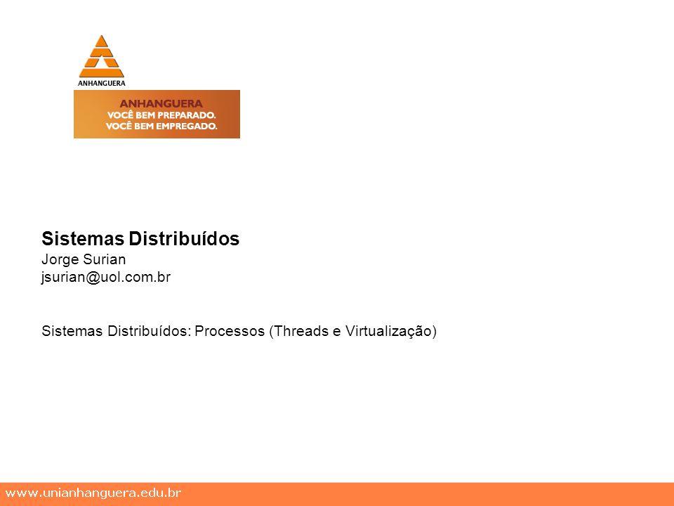 Sistemas Distribuídos Jorge Surian jsurian@uol.com.br Sistemas Distribuídos: Processos (Threads e Virtualização)