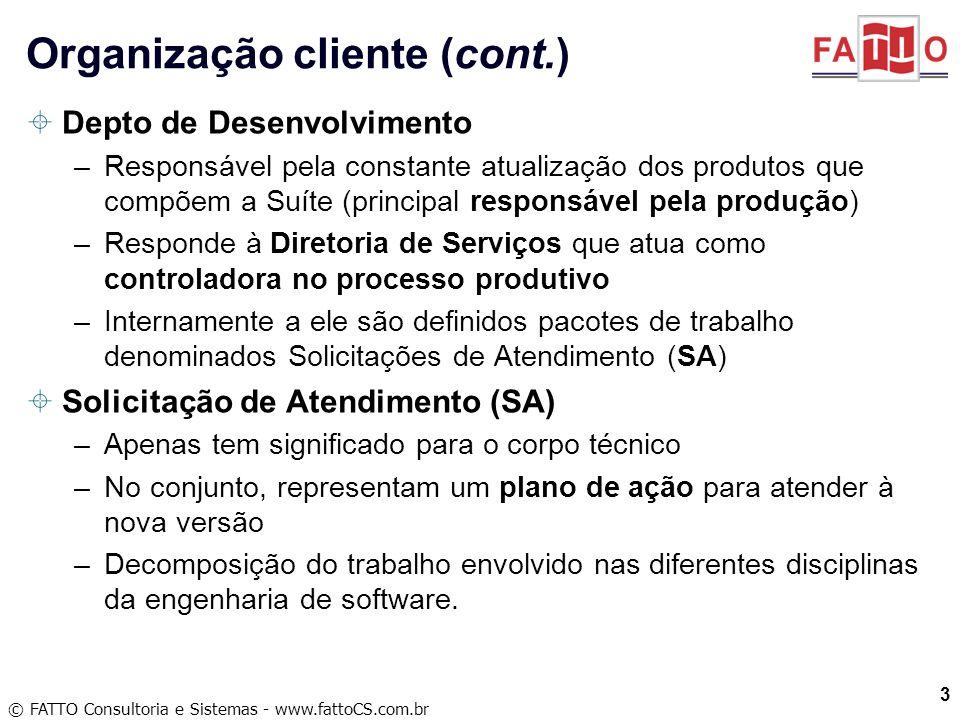 © FATTO Consultoria e Sistemas - www.fattoCS.com.br Depto de Desenvolvimento –Responsável pela constante atualização dos produtos que compõem a Suíte
