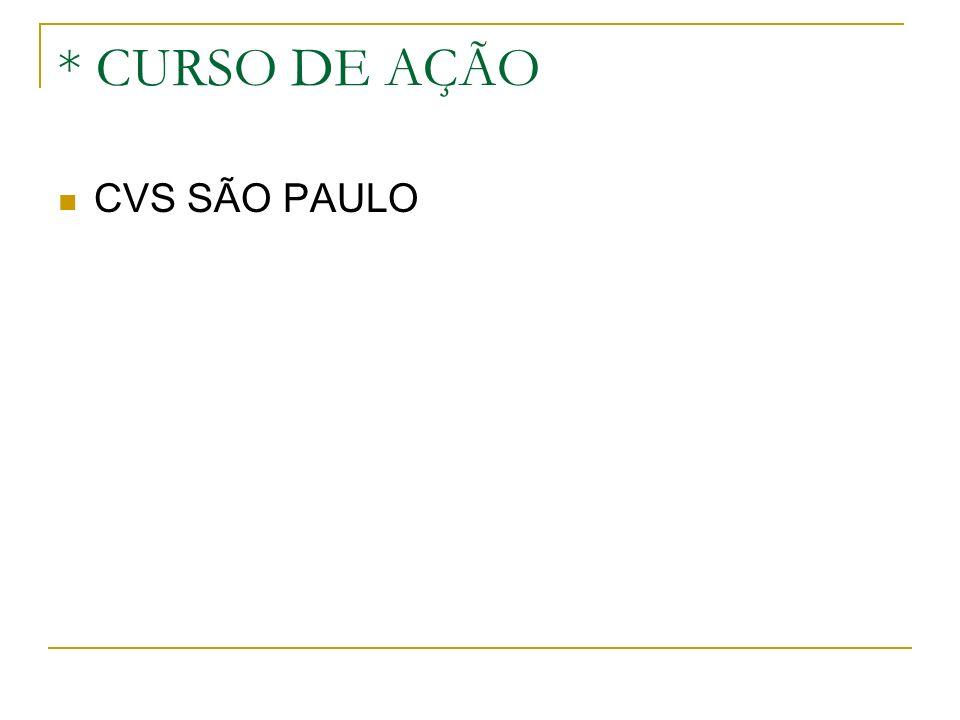 * CURSO DE AÇÃO CVS SÃO PAULO