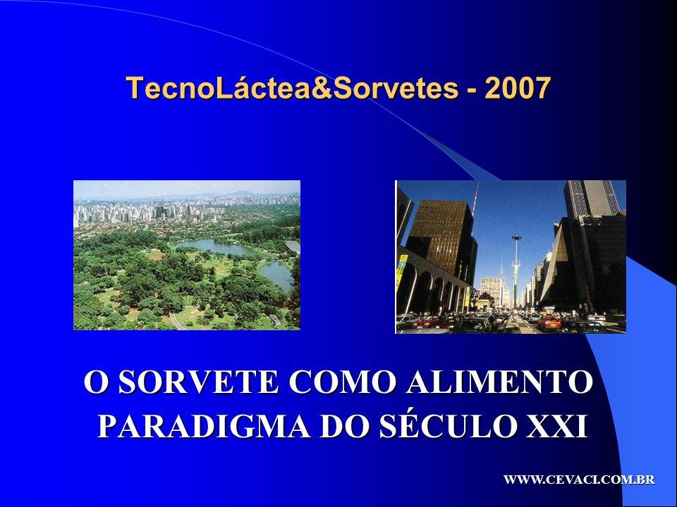 TecnoLáctea&Sorvetes - 2007 O SORVETE COMO ALIMENTO PARADIGMA DO SÉCULO XXI PARADIGMA DO SÉCULO XXI WWW.CEVACI.COM.BR
