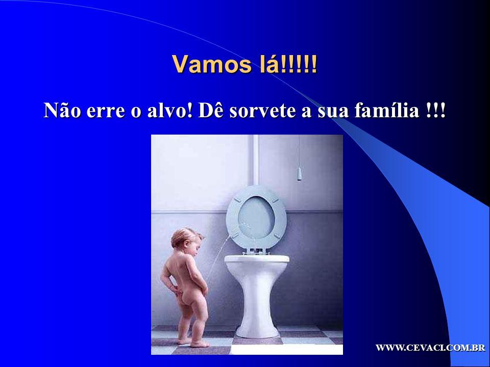 Vamos lá!!!!! Não erre o alvo! Dê sorvete a sua família !!! WWW.CEVACI.COM.BR