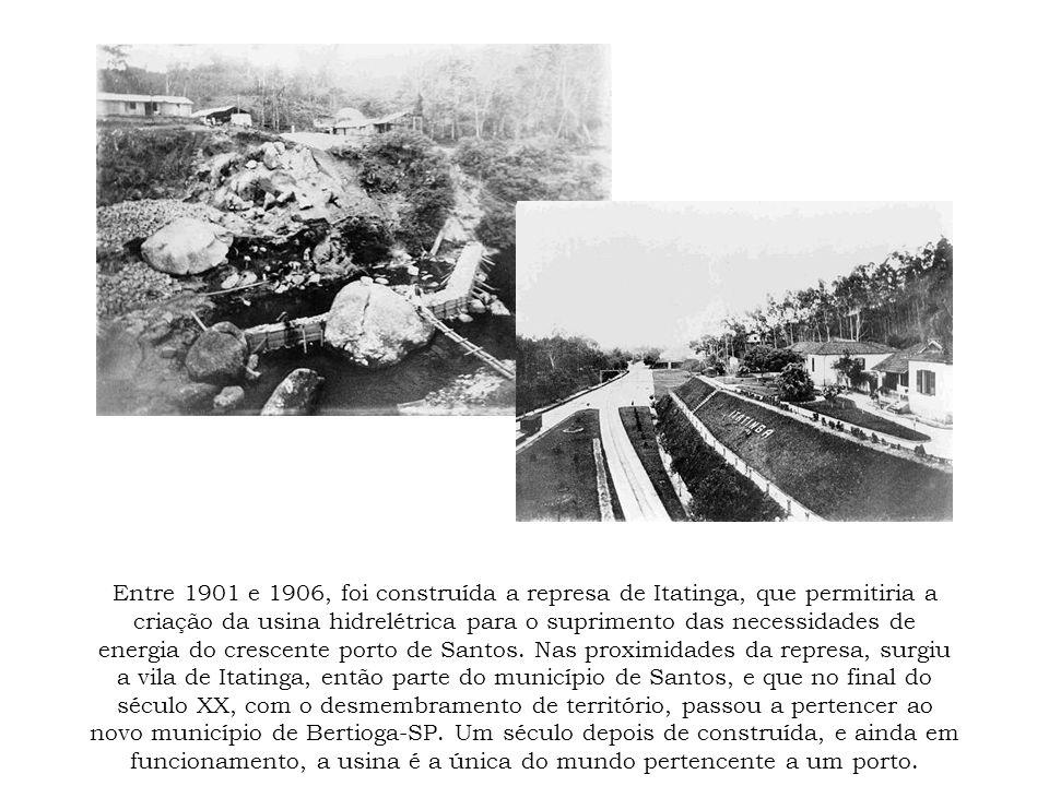 Entre 1901 e 1906, foi construída a represa de Itatinga, que permitiria a criação da usina hidrelétrica para o suprimento das necessidades de energia