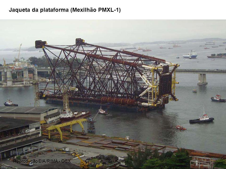 Jaqueta da plataforma (Mexilhão PMXL-1) Reprodução EIA/RIMA - OSX