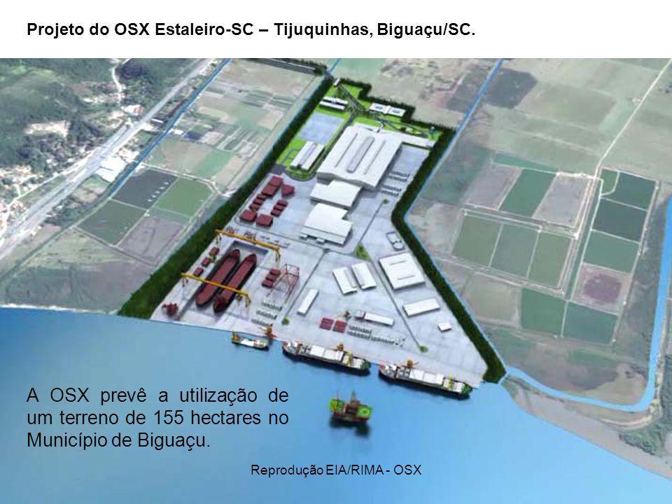 Projeto do OSX Estaleiro-SC – Tijuquinhas, Biguaçu/SC.