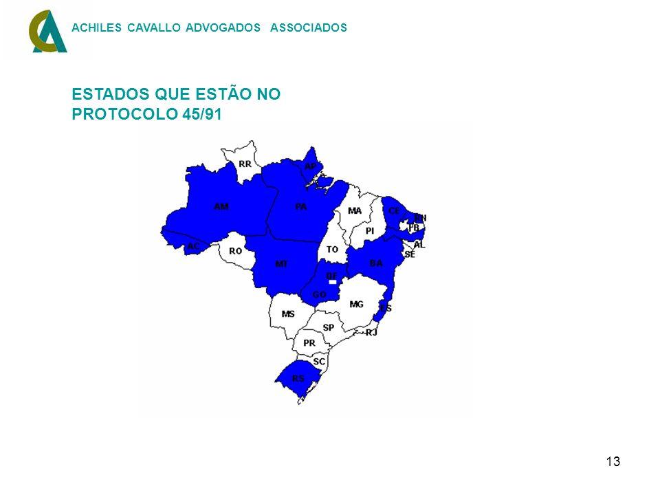 13 ACHILES CAVALLO ADVOGADOS ASSOCIADOS ESTADOS QUE ESTÃO NO PROTOCOLO 45/91