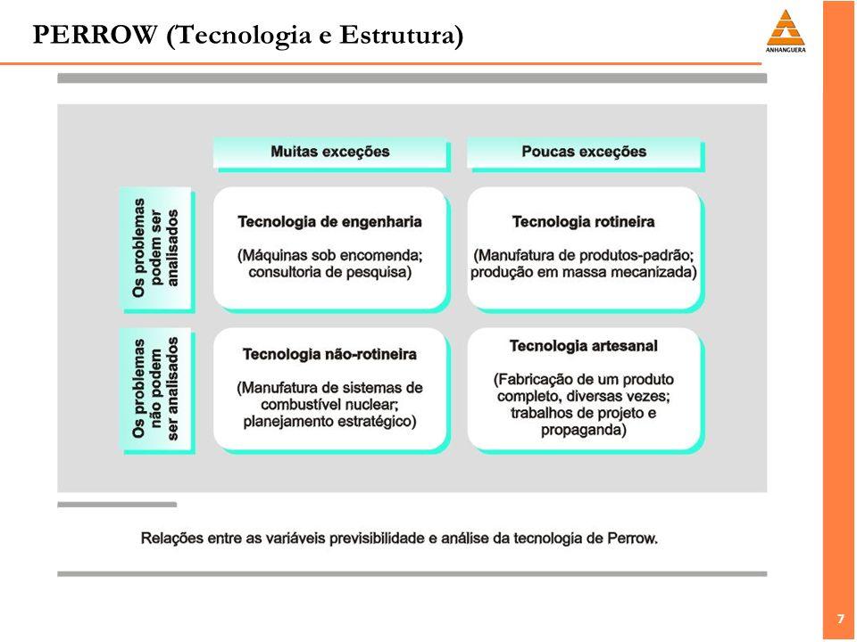 8 8 BURNS E STALKER (Ambiente e estrutura) Analisaram: Efeitos do ambiente externo sobre o padrão de administração e desempenho econômico daquelas empresas.
