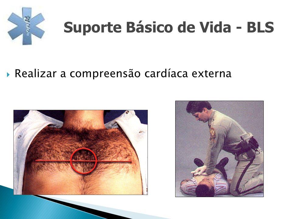 Realizar a compreensão cardíaca externa Suporte Básico de Vida - BLS