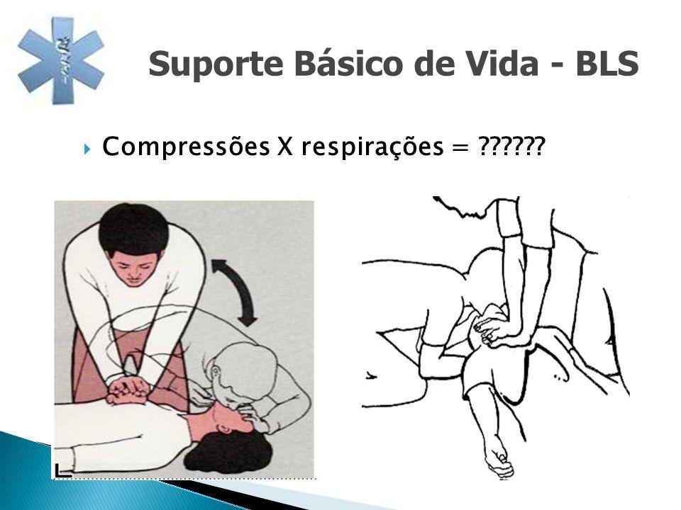 Compressões X respirações = ?????? Suporte Básico de Vida - BLS