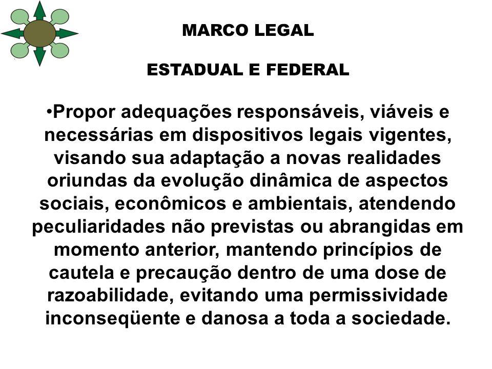 10º Congresso Florestal Estadual do Rio Grande do Sul 1º Seminário Mercosul da Cadeia Madeira MARCO LEGAL ESTADUAL E FEDERAL Propor adequações respons