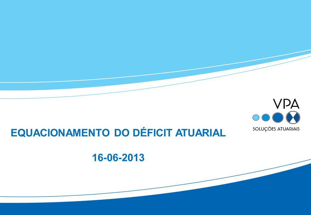 EQUACIONAMENTO DO DÉFICIT ATUARIAL 16-06-2013