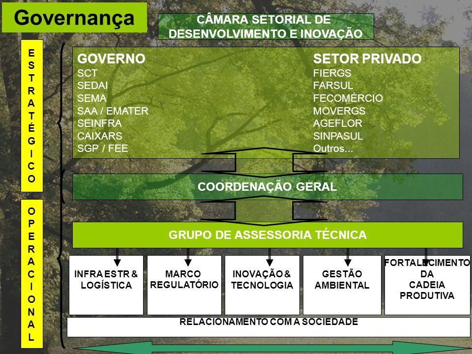 Governança GOVERNOSETOR PRIVADO SCTFIERGS SEDAIFARSUL SEMAFECOMÉRCIO SAA / EMATERMOVERGS SEINFRAAGEFLOR CAIXARSSINPASUL SGP / FEEOutros... ESTRATÉGICO