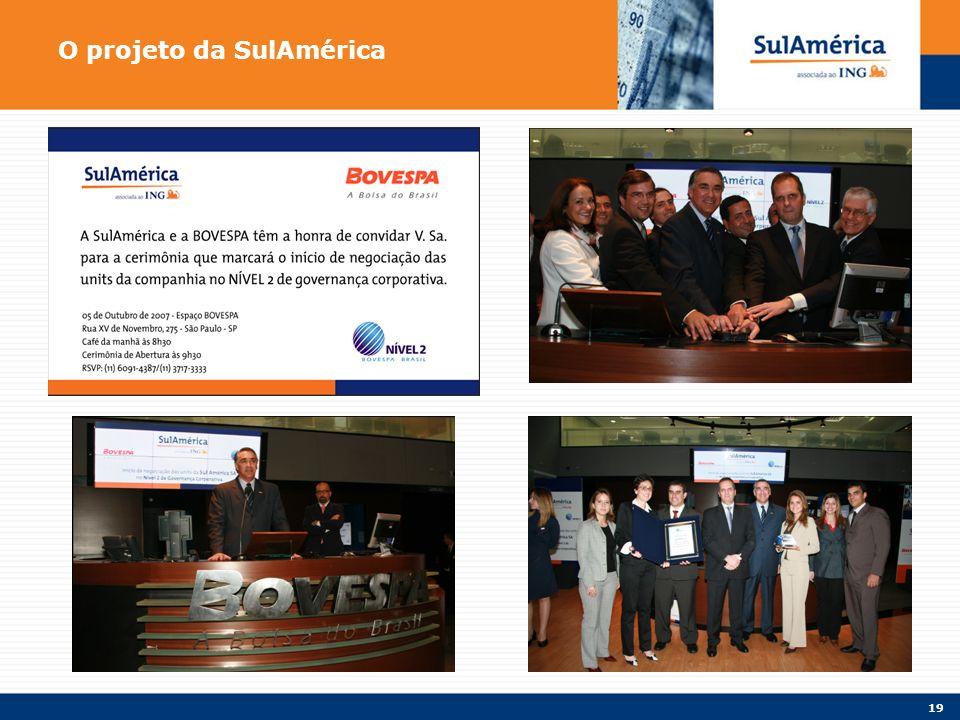 19 O projeto da SulAmérica