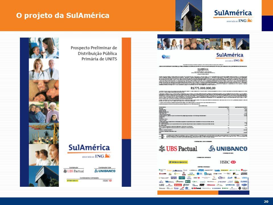 20 O projeto da SulAmérica