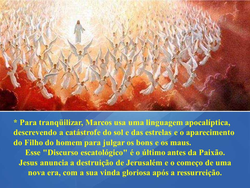 A 2ª Leitura apresenta a oferta perfeita de Cristo, que nos libertou do pecado e nos inseriu numa dinâmica de vida eterna. É o caminho do mundo novo e