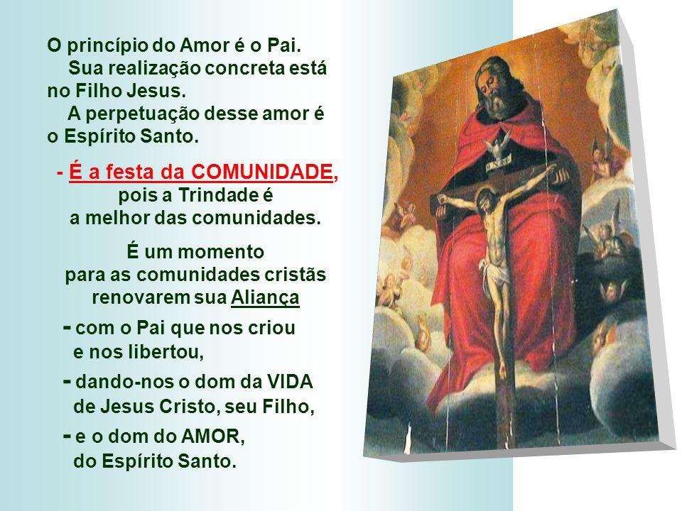+ A FESTA DA TRINDADE: - Não é apenas uma oportunidade para falar da Trindade... - É um convite para contemplar Deus, que é amor, que é família, que é