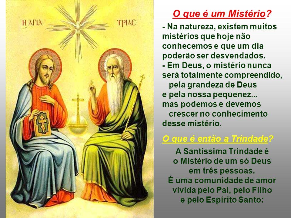 Desde pequenos, aprendemos de nossos pais a fazer o sinal da cruz e chamar a Deus de Pai, Filho e Espírito Santo. Com toda a naturalidade, estávamos i