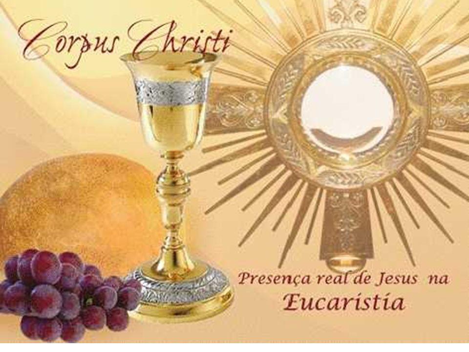 Em toda missa, Cristo continua a alimentar o povo de Deus, com o alimento de sua PALAVRA e com o alimento do PÃO DA VIDA, na caminhada de retorno à ca