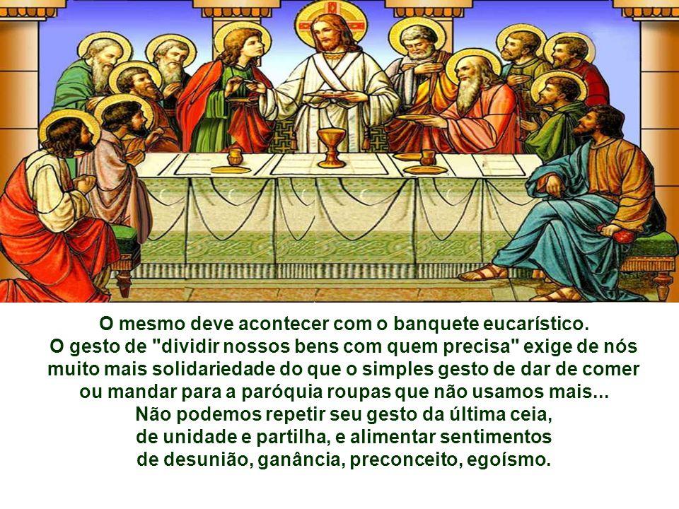 Na 1ª Leitura, o Sacerdote MELQUISEDEC oferece a Abraão e seus homens cansados e famintos PÃO e VINHO, depois de os abençoar, invocando o nome de Deus