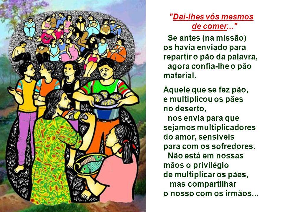 3. No Evangelho, Lucas fala da multiplicação dos pães. (Lc 9,11b-17) Mais do que os fatos da narrativa, Lucas quer explicar o que significa