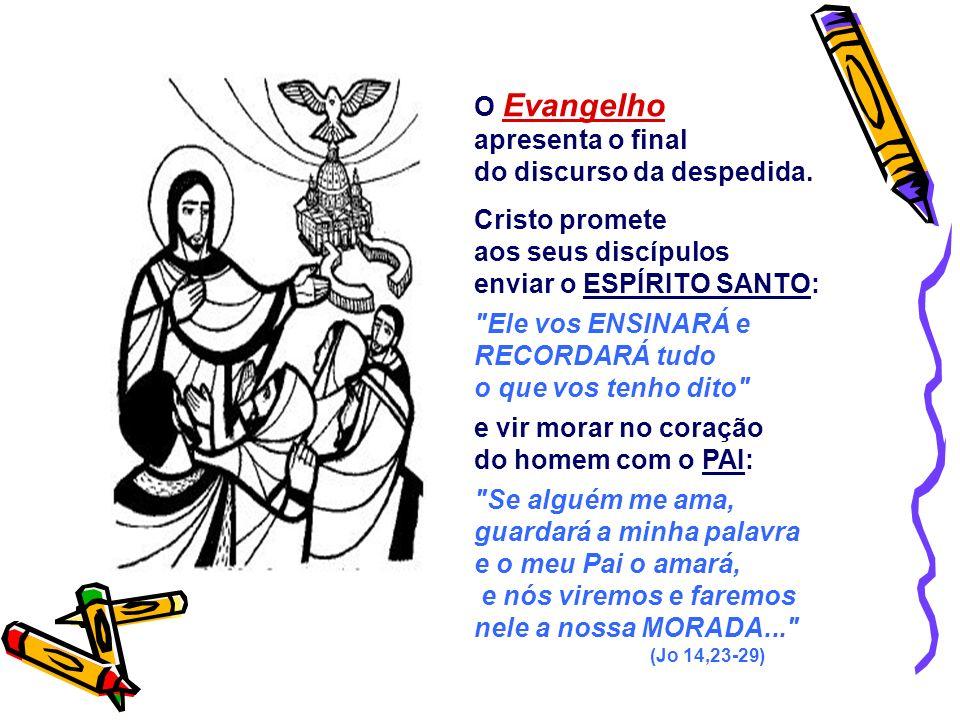 - Ter consciência da presença do Espírito Santo na Igreja de Cristo. - E como os apóstolos, escutá-lo, na Oração e na Discussão. A 2ª Leitura faz uma