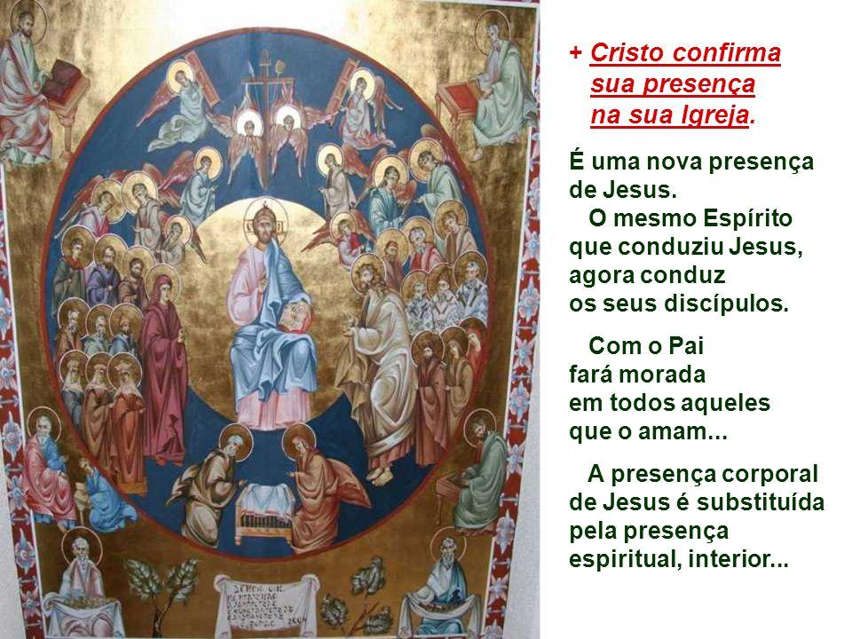 O Evangelho apresenta o final do discurso da despedida. Cristo promete aos seus discípulos enviar o ESPÍRITO SANTO: