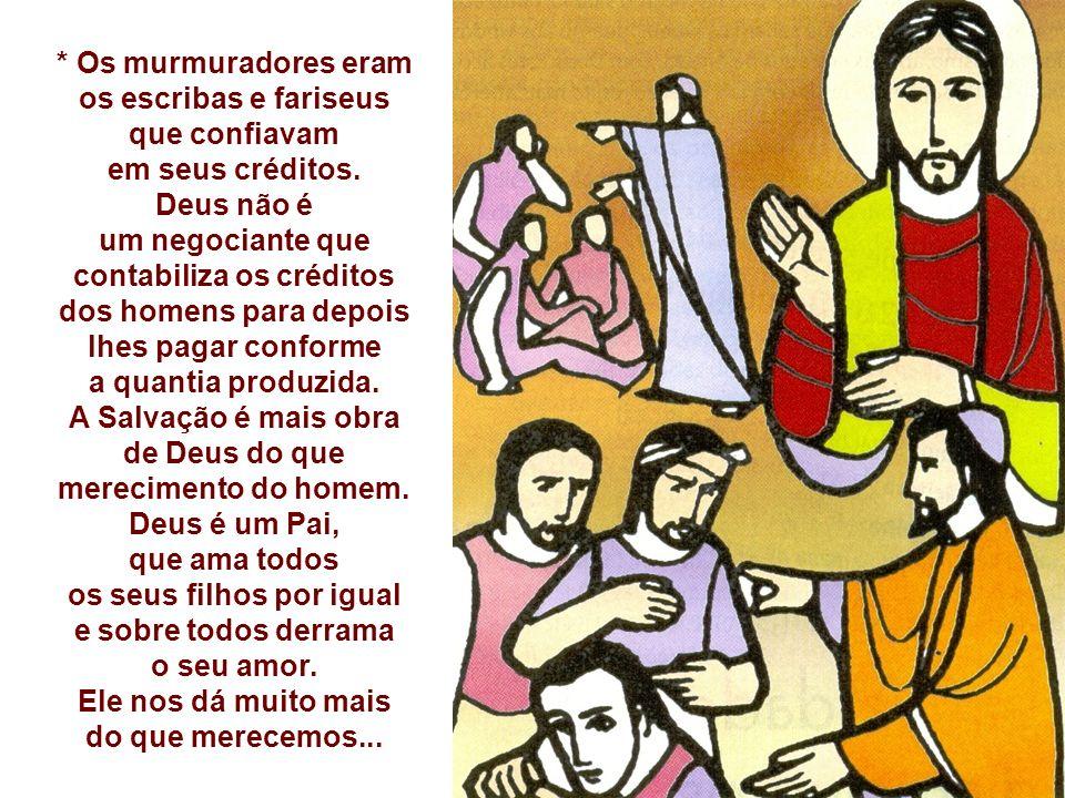 A Parábola da VINHA é exclusiva de Mateus: - Um patrão contrata para a sua vinha trabalhadores, em vários momentos.