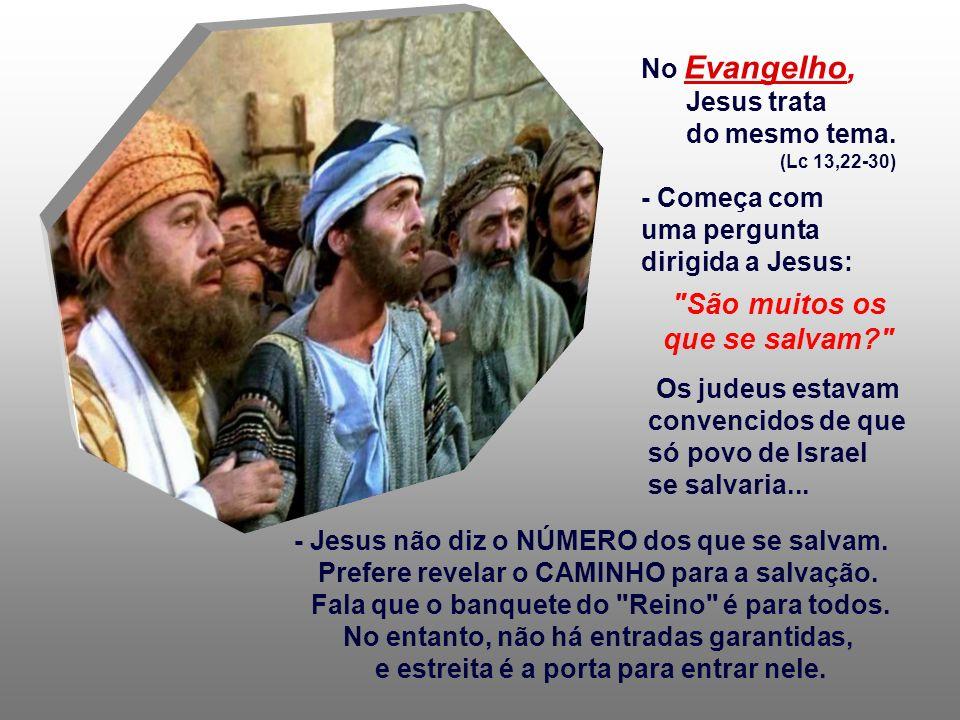 A 2ª Leitura afirma que o homem encontra a Salvação em Deus e deve deixar-se guiar por ele, que, como Pai, corrige e repreende os que se desviam do bo