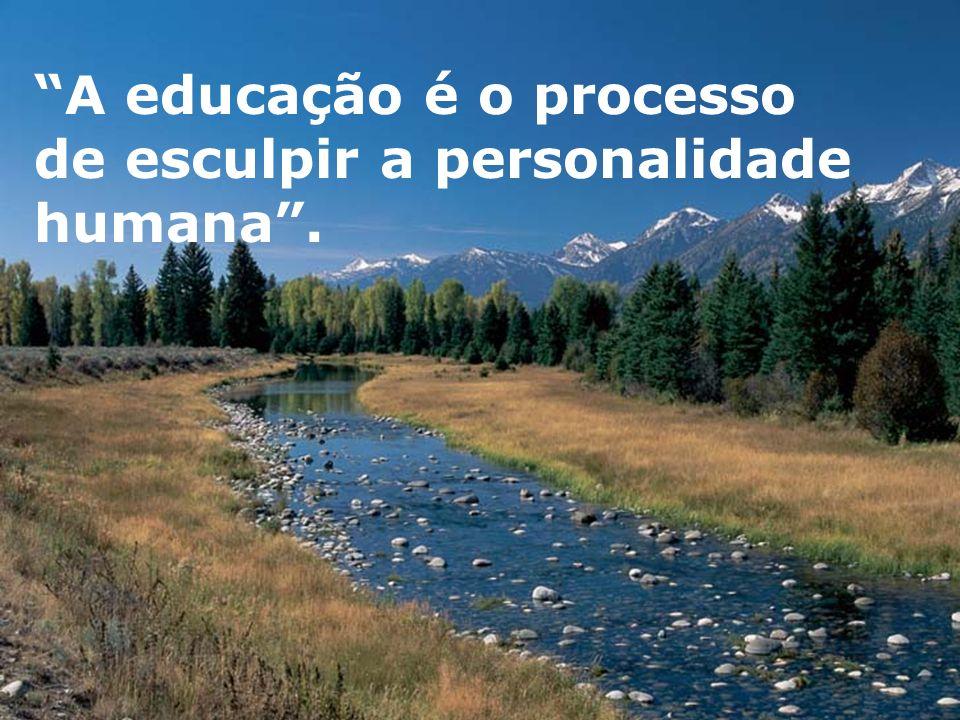 A educação é o processo de esculpir a personalidade humana.