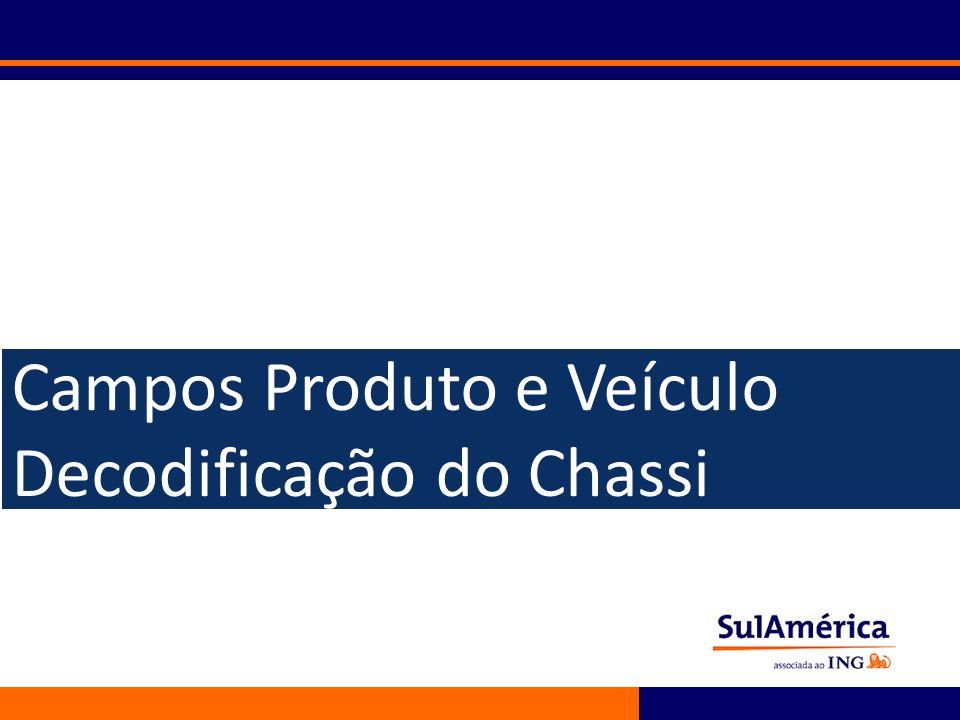 37 Campos Produto e Veículo Decodificação do Chassi