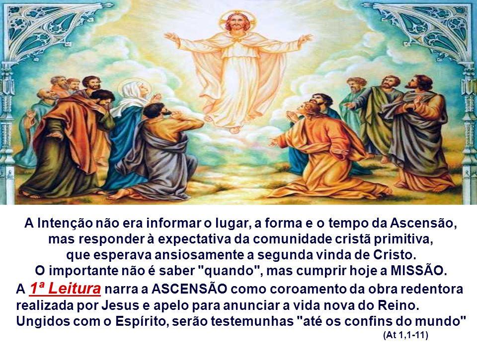 - Não poderíamos também ser advertidos pelos anjos de Deus: Por que ficais parados, de braços cruzados, olhando para o céu? Não é o momento de olhar ao nosso redor e...