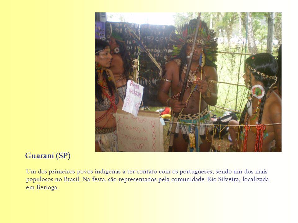 Um dos primeiros povos indígenas a ter contato com os portugueses, sendo um dos mais populosos no Brasil. Na festa, são representados pela comunidade