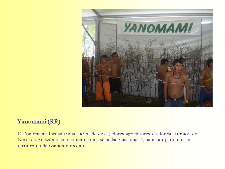 Os Yanomami formam uma sociedade de caçadores-agricultores da floresta tropical do Norte da Amazônia cujo contato com a sociedade nacional é, na maior
