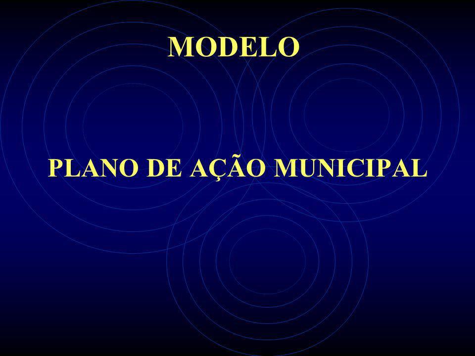 MODELO PLANO DE AÇÃO MUNICIPAL