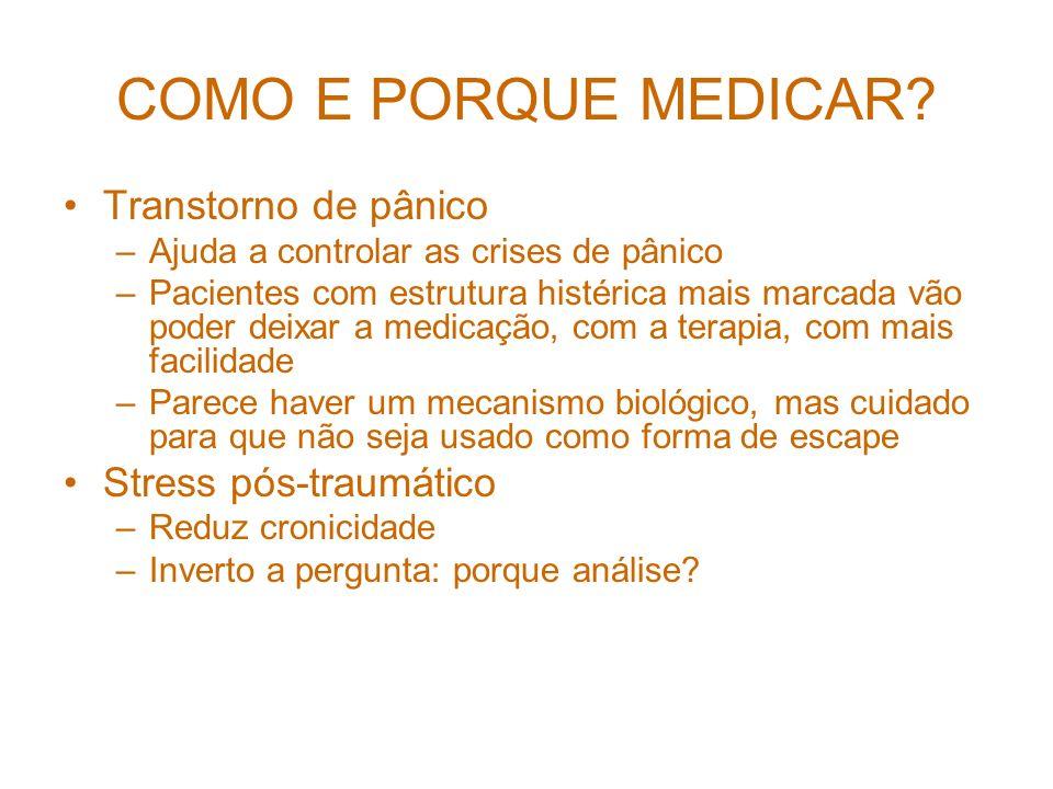 COMO E PORQUE MEDICAR.