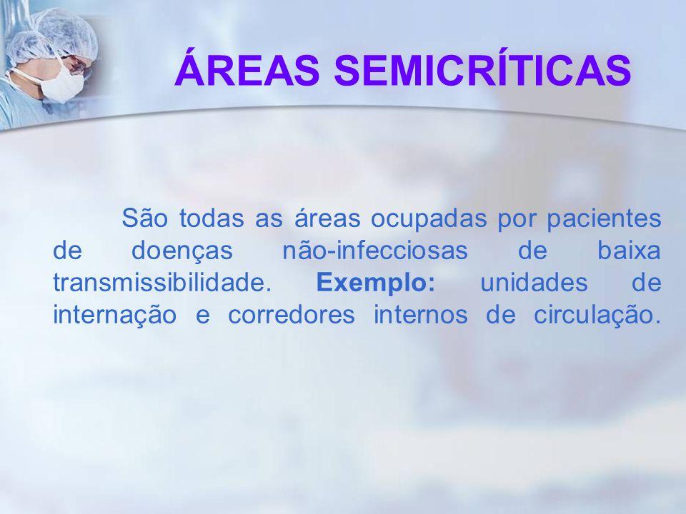 São todas as áreas ocupadas por pacientes de doenças não-infecciosas de baixa transmissibilidade. Exemplo: unidades de internação e corredores interno