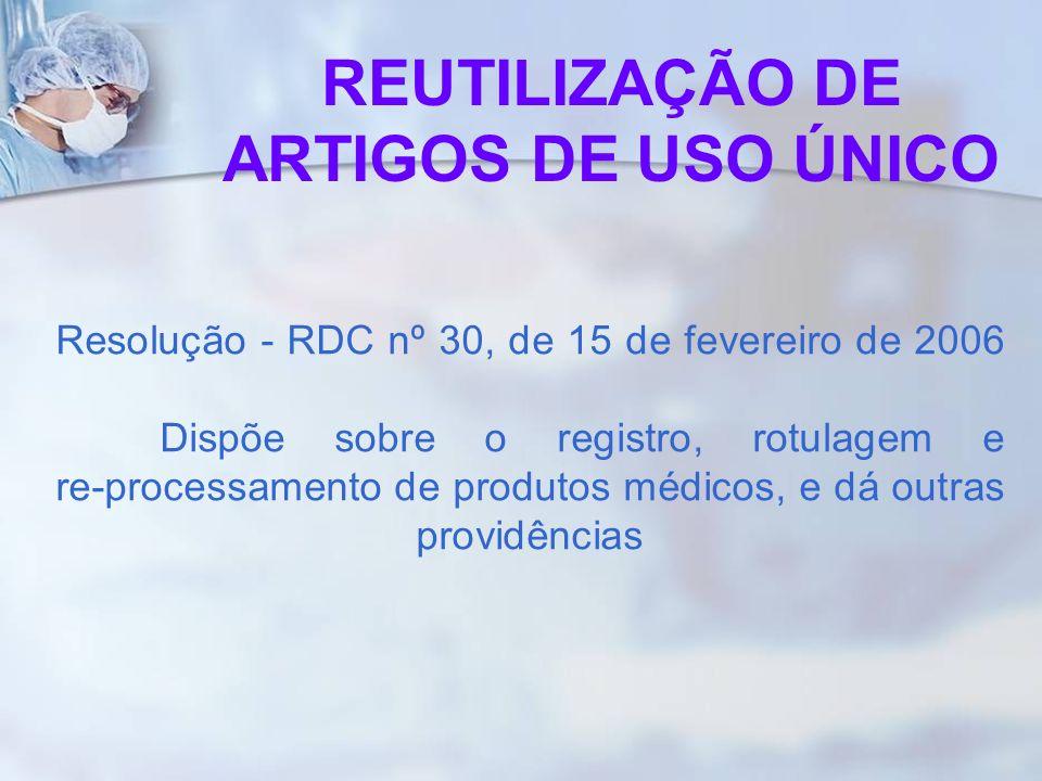 Resolução - RDC nº 30, de 15 de fevereiro de 2006 Dispõe sobre o registro, rotulagem e re-processamento de produtos médicos, e dá outras providências