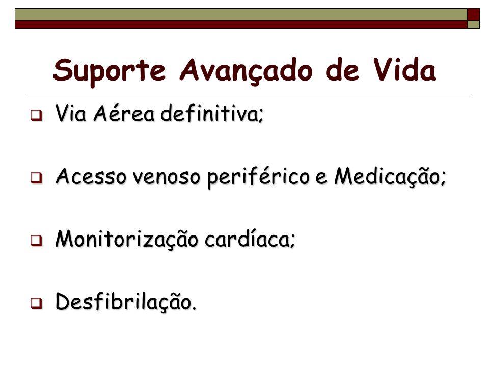 Suporte Avançado de Vida Via Aérea definitiva; Via Aérea definitiva; Acesso venoso periférico e Medicação; Acesso venoso periférico e Medicação; Monit