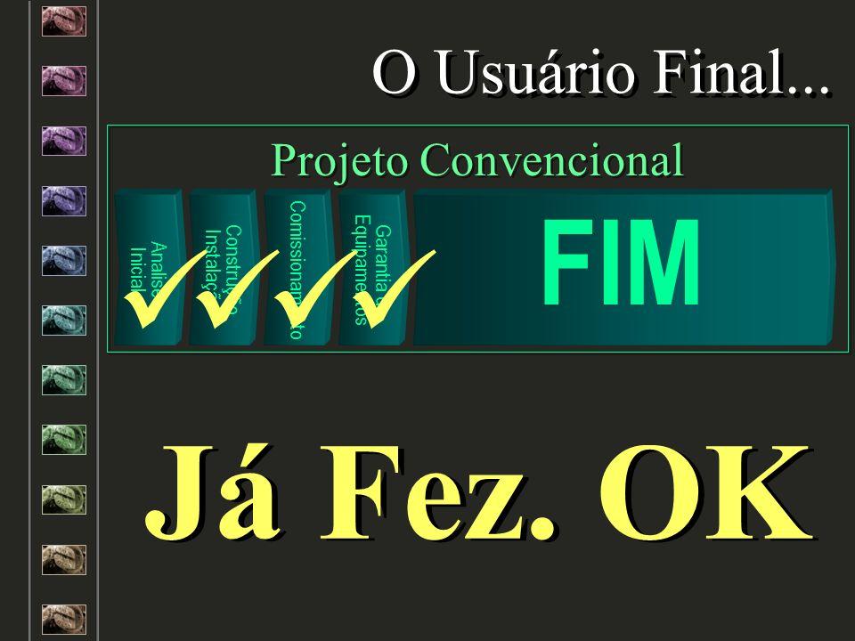 Analise Inicial Construção Instalação Comissionamento Garantia de Equipamentos FIM O Usuário Final... Projeto Convencional Já Fez. OK