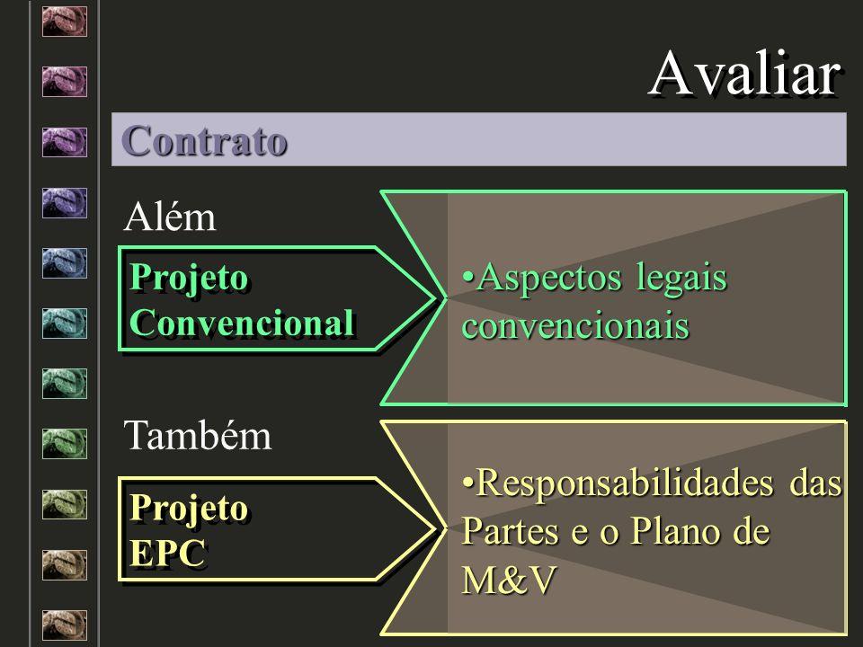 Avaliar Além Também Aspectos legais convencionaisAspectos legais convencionais Responsabilidades das Partes e o Plano de M&VResponsabilidades das Part
