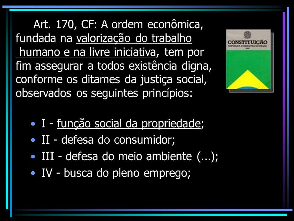 Função social da propriedade (= empresa) Roppo: o atual processo econômico é determinado e impulsionado pela empresa, e já não pela propriedade em sua acepção clássica.