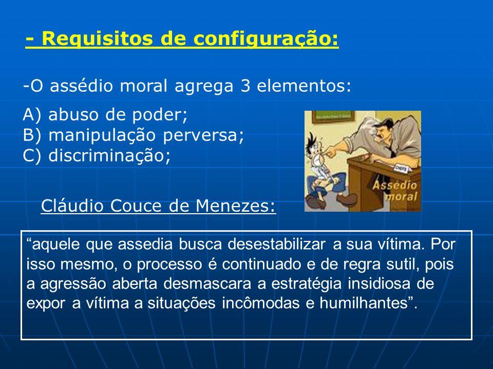 -Assediante = superior hierárquico= responsabilidade por ato de terceiro; Art.
