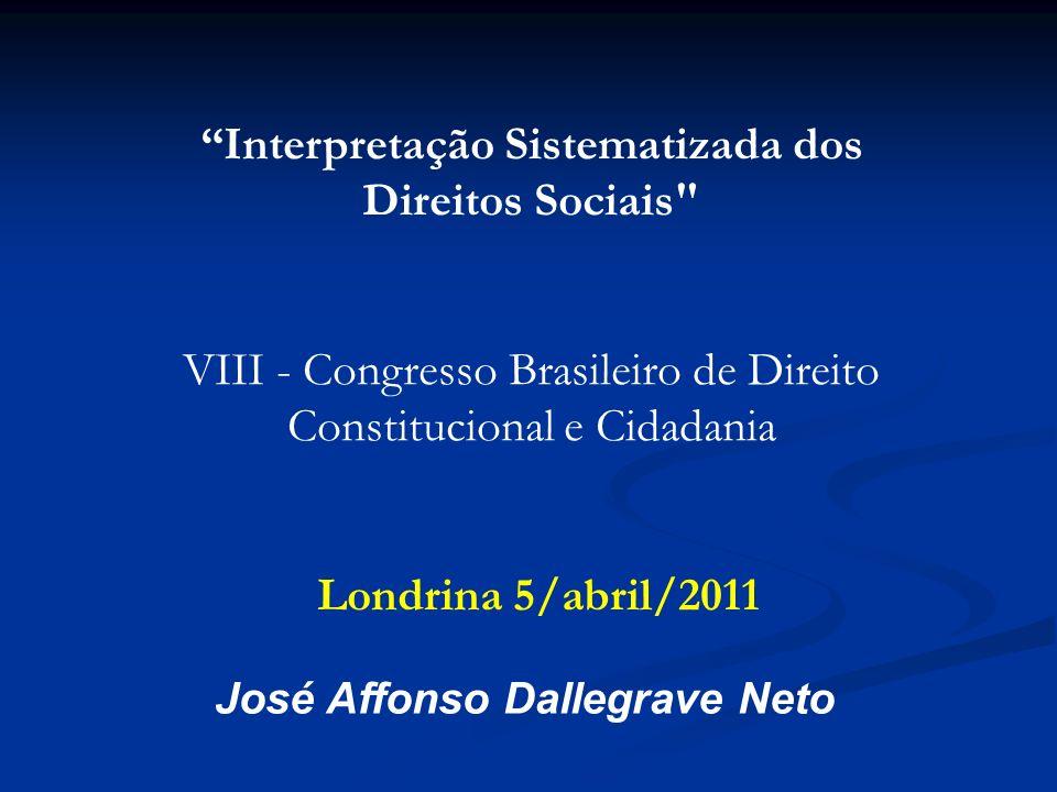 Interpretação Sistematizada dos Direitos Sociais