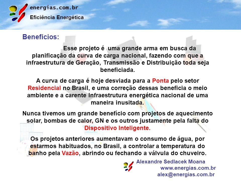 energias.com.br Eficiência Energética Alexandre Sedlacek Moana www.energias.com.br alex@energias.com.br Benefícios: Esse projeto é uma grande arma em