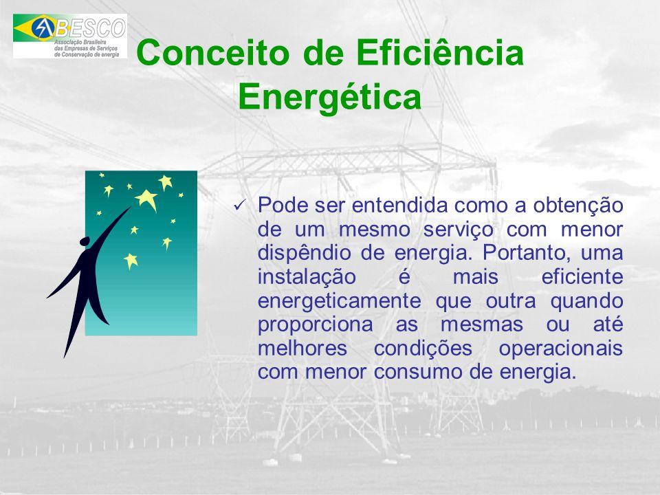Conclusão: Temos um dos maiores mercados potenciais do mundo nos setores de Eficiência Energética e de Energia Renovável.