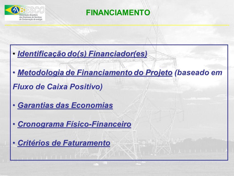 FINANCIAMENTO Identificação do(s) Financiador(es) Identificação do(s) Financiador(es) Metodologia de Financiamento do Projeto Metodologia de Financiam