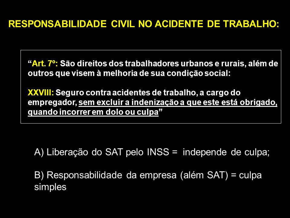 INFORTÚNIO: ACIDENTE DO TRABALHO Consequências Trabalhistas Consequências Previdenciárias Responsabilidade Civil Benefícios Previdenciários Art.