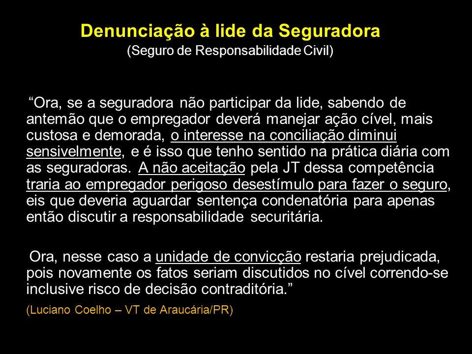 Dependentes do acidentado falecido: - Titulares da pensão: não são os herdeiros civis, mas os dependentes econômicos da vítima; - geralmente estão na declaração do INSS (presunção juris tantum).
