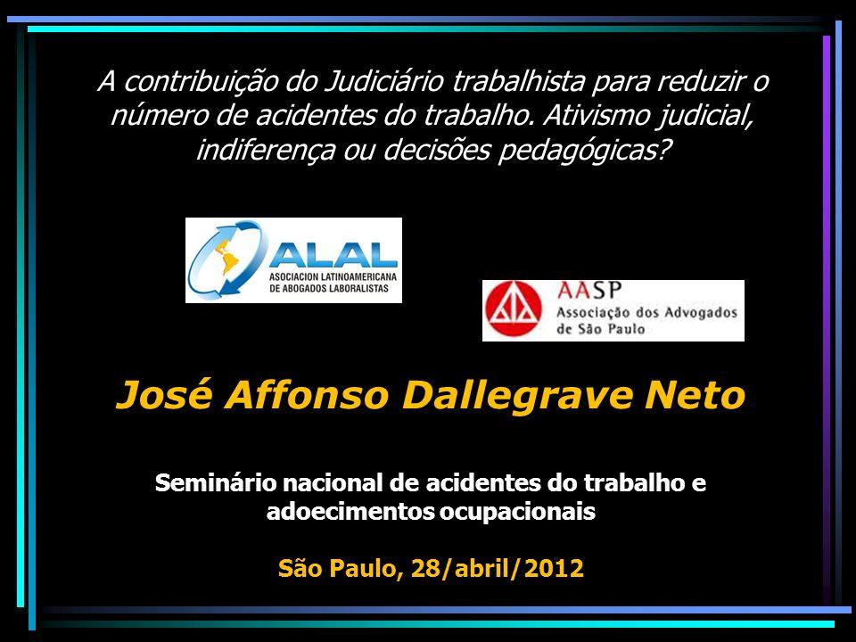 Brasil: recordista de acidentes *2006: total: 503.890; tipos: 403.264; de trajeto 73.981; doenças: 26.645.
